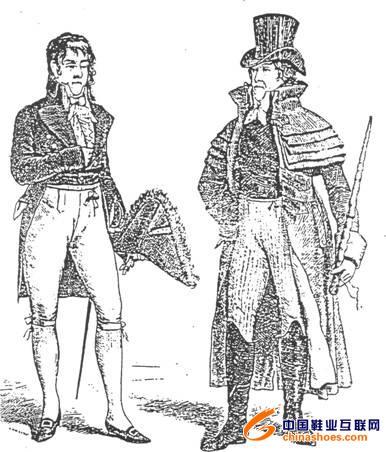 式服装鞋子历史