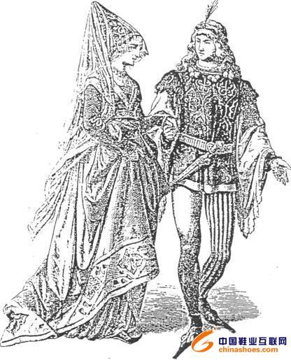 中世纪男士服装; 中世纪服饰欧洲中世纪服饰2设计图_服装设 法国