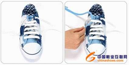 花样系鞋带方法步骤图解